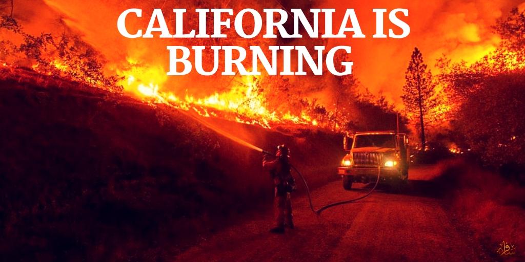 رياح الشيطان تلتهم كاليفورنيا سافر