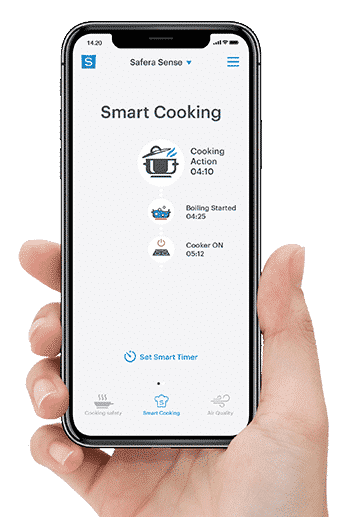 Become a smart chef with Safera mobile app for Sense stove guard
