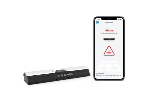 Safera Sense sensor unit and the mobile app is the smartest way to improve cooking safety