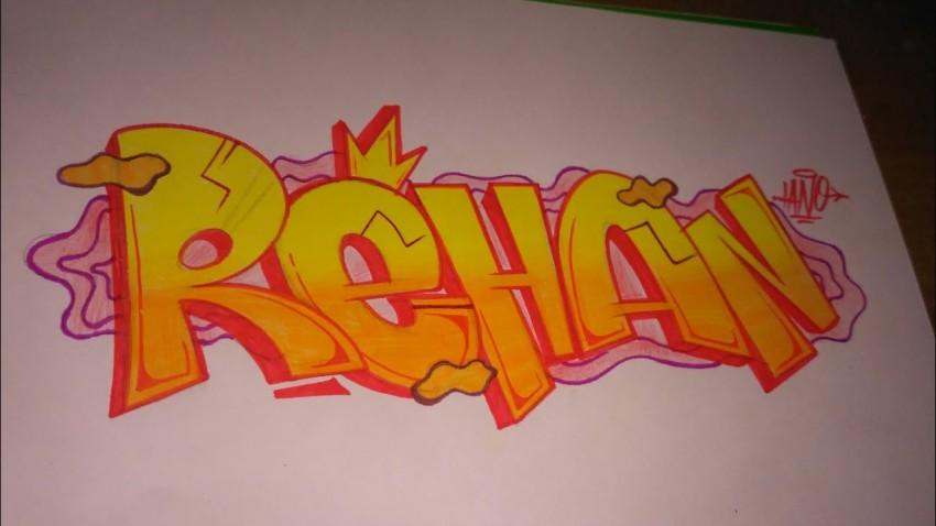 grafiti nama rehan