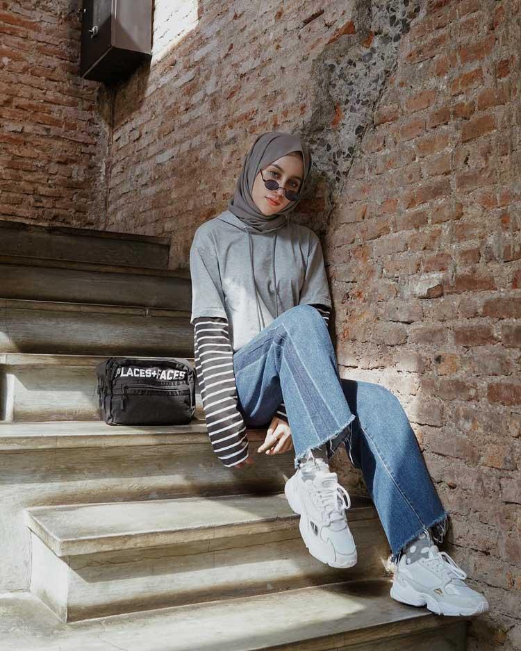 kondangan pake jeans hijab