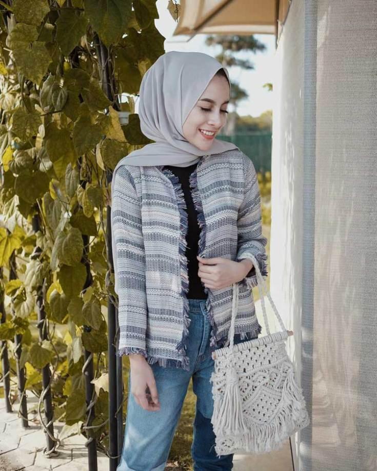 kondangan jeans hijab