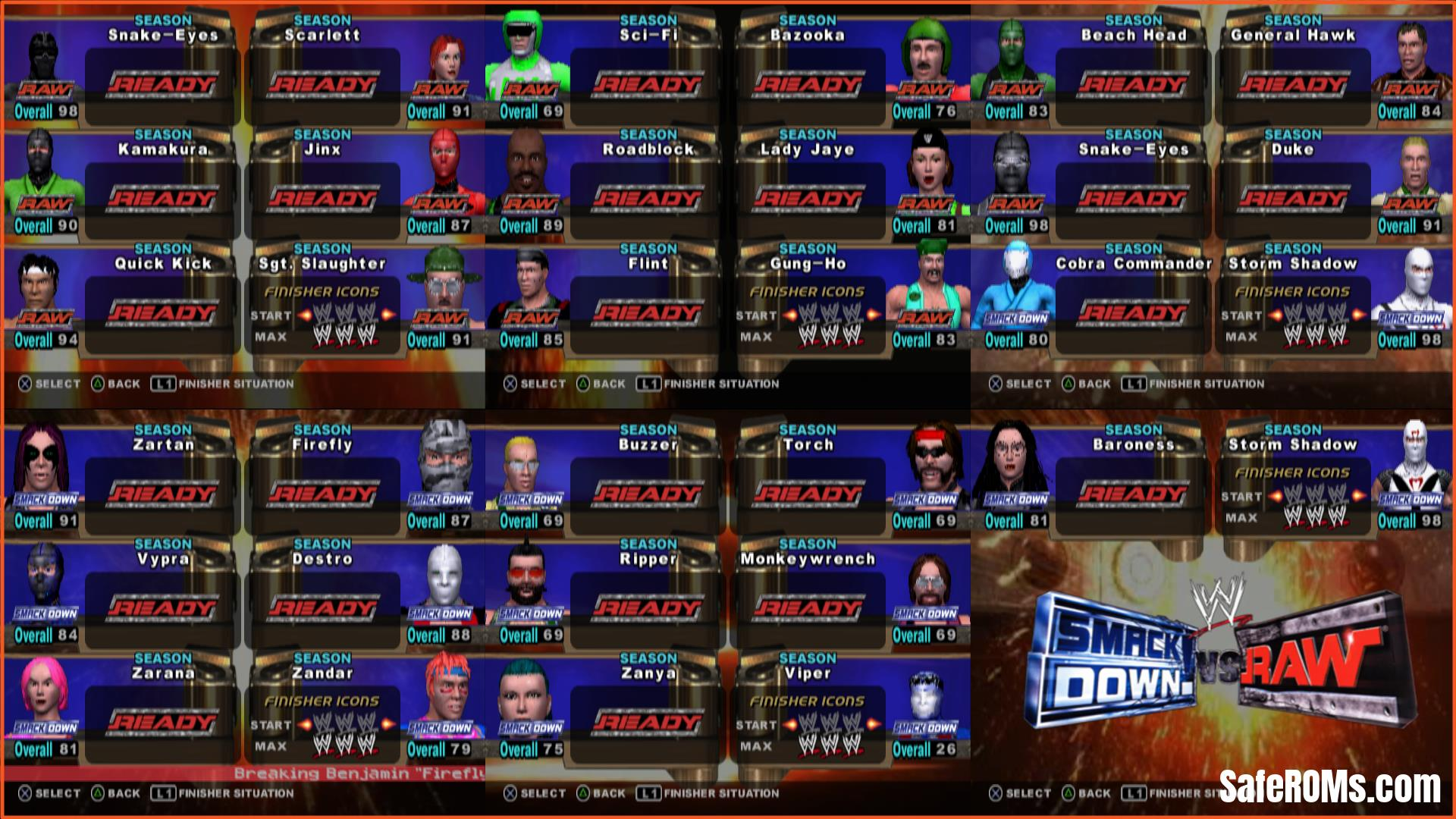 WWE SmackDown vs Raw