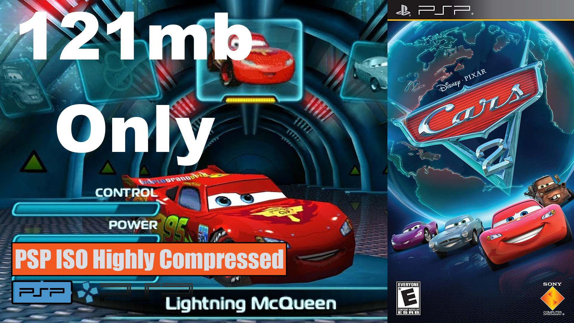 Cars 2 PSP ISO Highly Compressed
