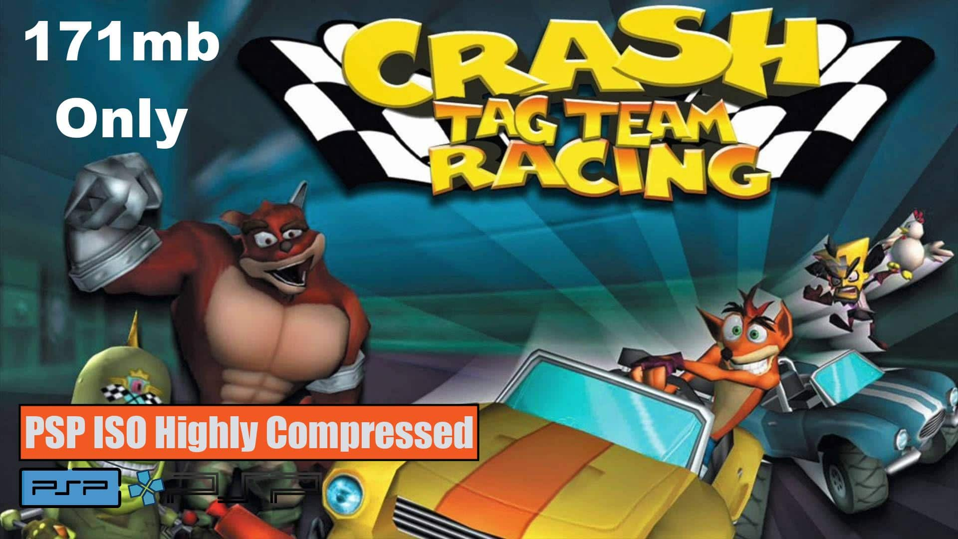 Crash Tag Team Racing PSP ISO Highly Compressed