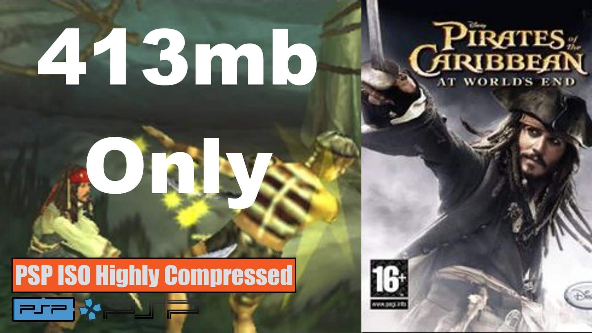 Pirates of The Caribbean at World's End PSP ISO Highly Compressed