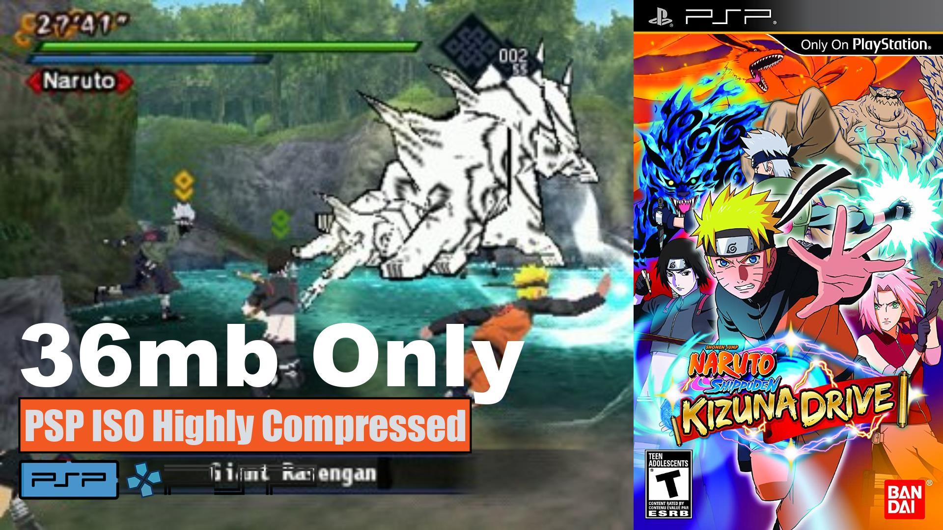 Naruto Shippuden Kizuna Drive PSP ISO Highly Compressed - SafeROMs