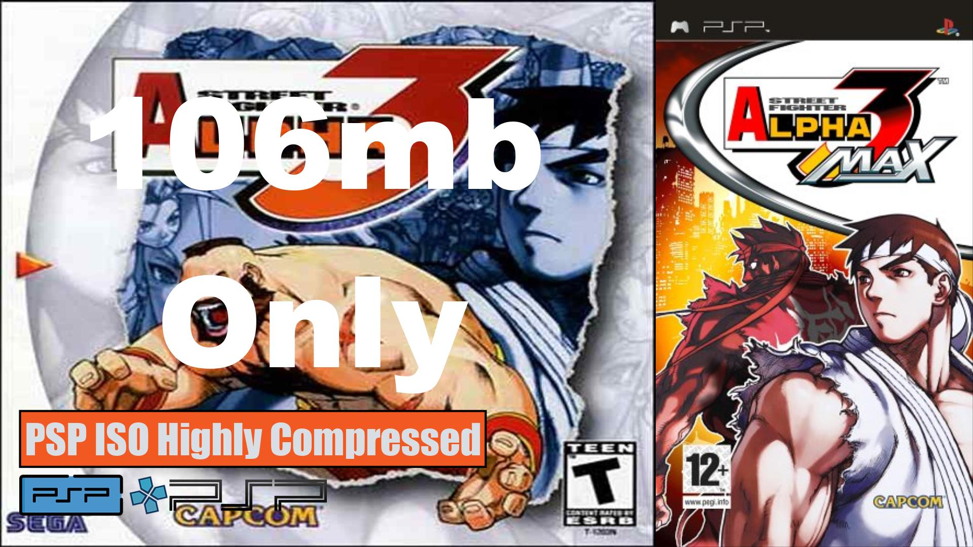 Street Fighter Alpha 3 PSP ISO Highly Compressed