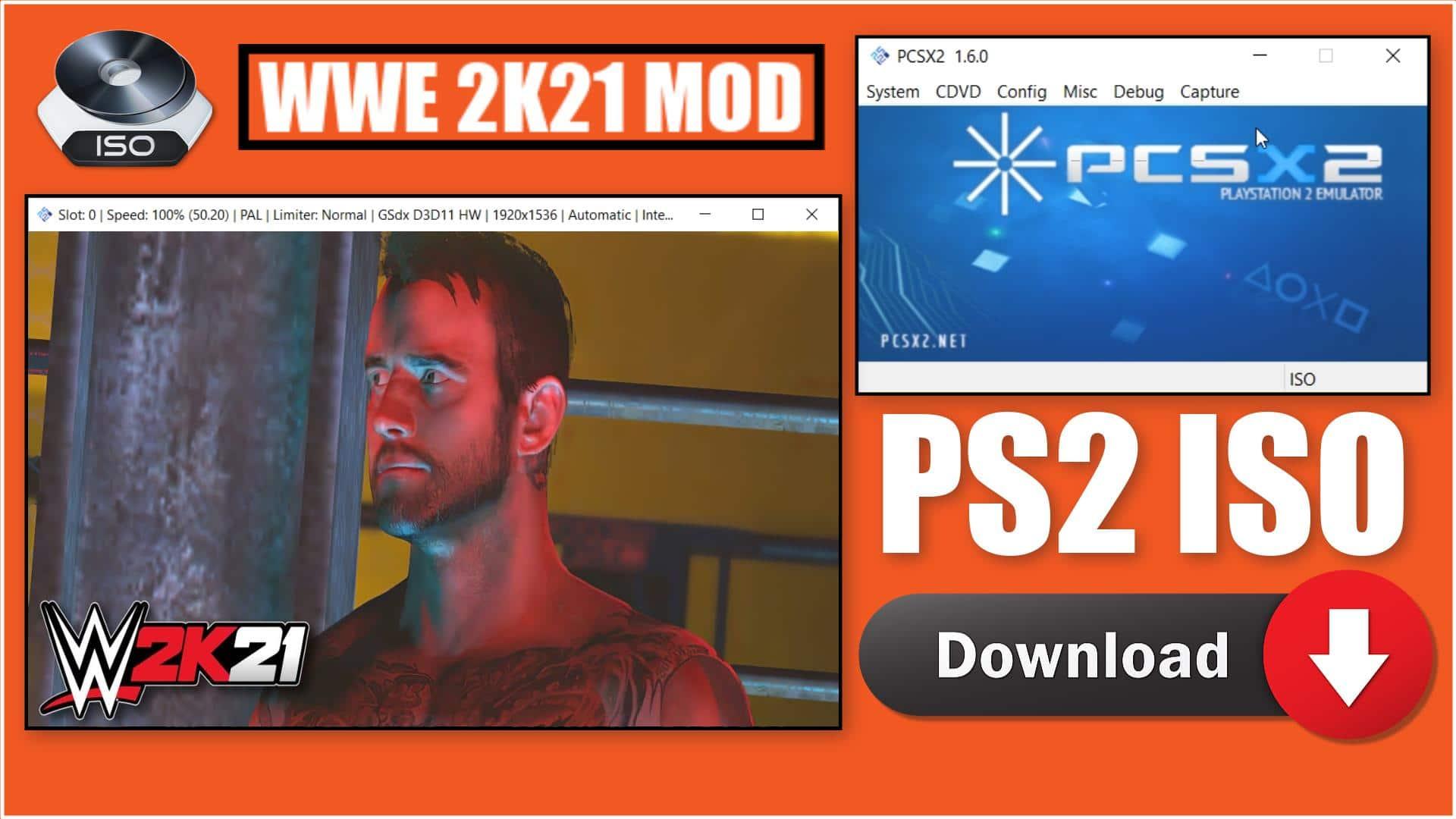 WWE 2K21 PS2 ISO
