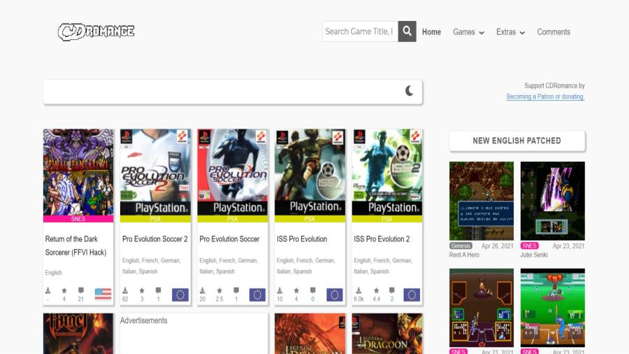 CDRomance - Retro Games, MODs, Translations & Backups