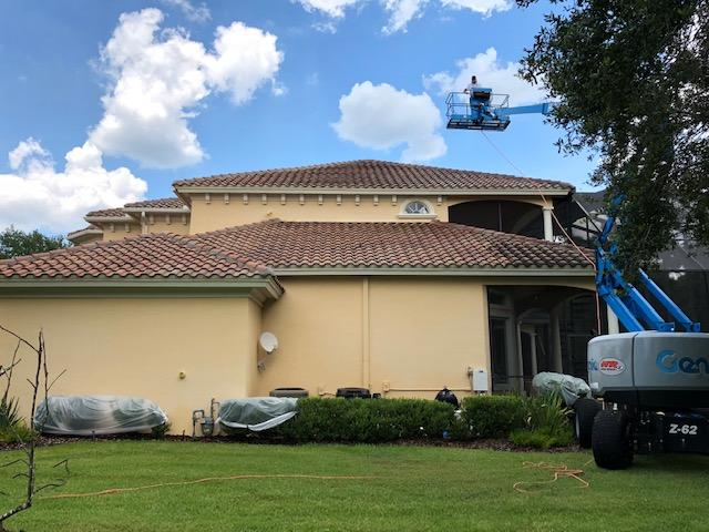 Tampa Tile Roof Cleaning and Disinfecting 4-3-2020