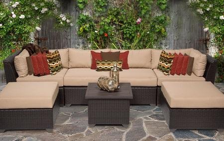 beach 7 piece outdoor wicker patio furniture set 2017 model