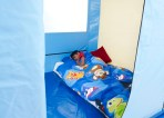 child sleeping in Safespace 1