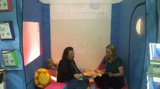 Lorna & Karen Brown at College of Occupational Therapists Annual Conference (Harrogate)