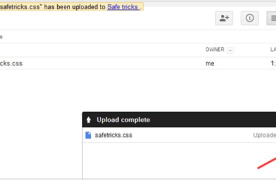 upload file google drive