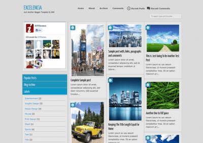 Exelencia responsive blogger template
