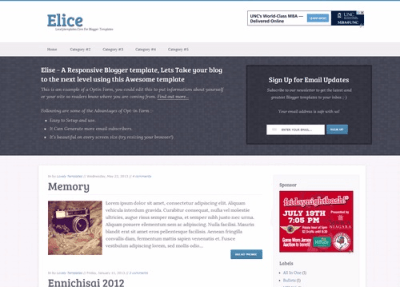 Elice responsive blogger template