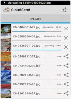 upload images on cloudsend