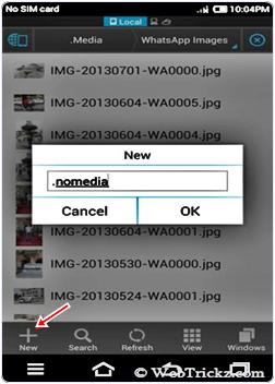 rename whatsapp mobile folder to .nomedia