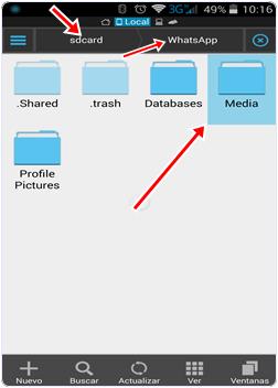 Whatsapp mobile media database