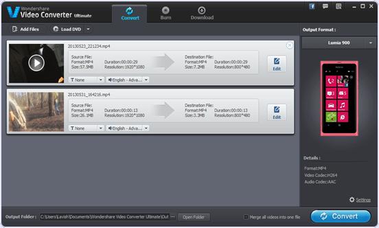 Wondershare Video Converter for windows pc