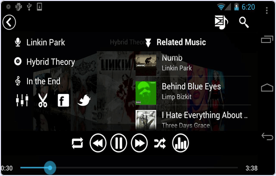 android Real Music Player