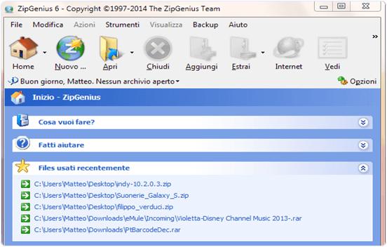 ZIP Genius files compressor software