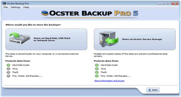 Ocster Backup Pro PC Software