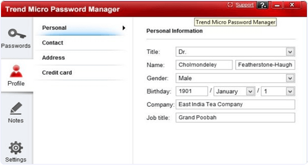 Trend Micro Password Manager PC Software