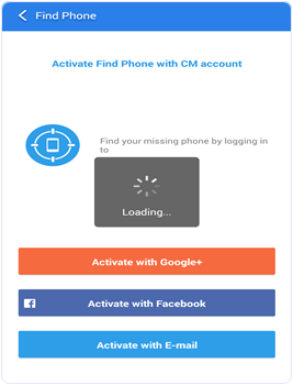 CM Security Activate Find Phone option