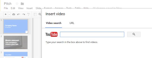 insert youtube music google slides