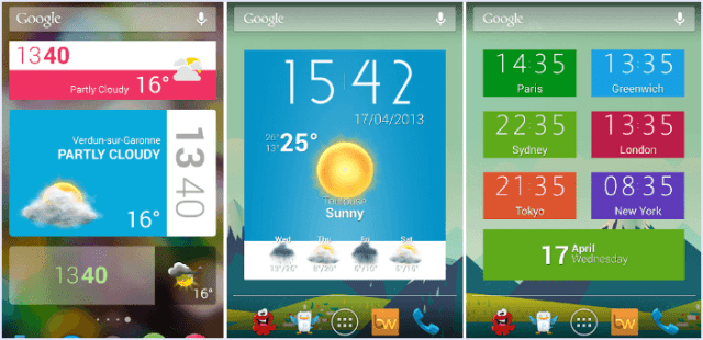 excess android widgets