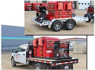Wildland truck and trailer for our fire protection service