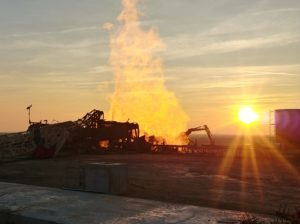 Romania Well Control image at sunset
