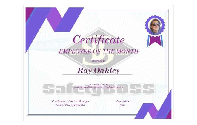 Employee of the Month - Ray Oakley