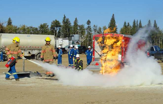 fire extinguisher handling and training