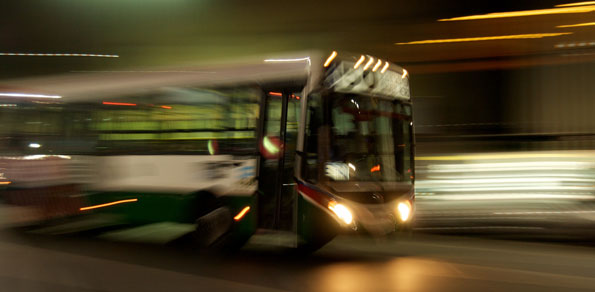 A speeding bus is a transportation safety compromise