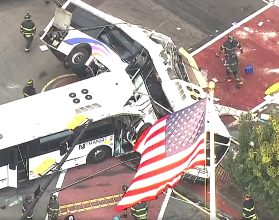 two NJ transit buses collide at intersection