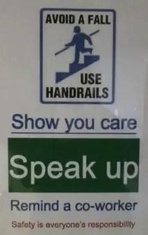 hold handrail