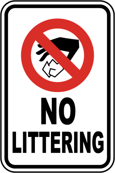 Image result for no littering sign