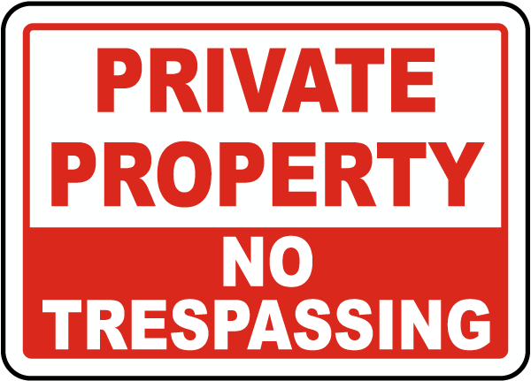 Private Property No Trespassing Sign F6011 - by SafetySign.com