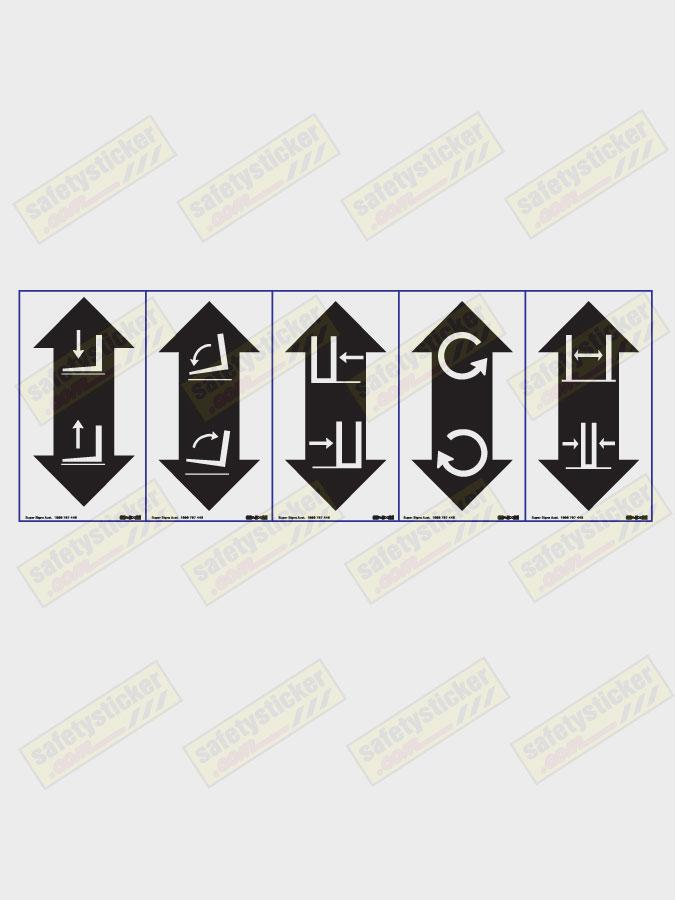Identification Forklift Control Decal | Safety Stickers