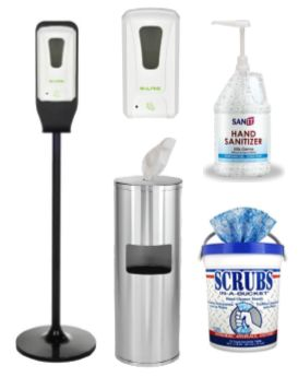 Sanitizers and Dispensers