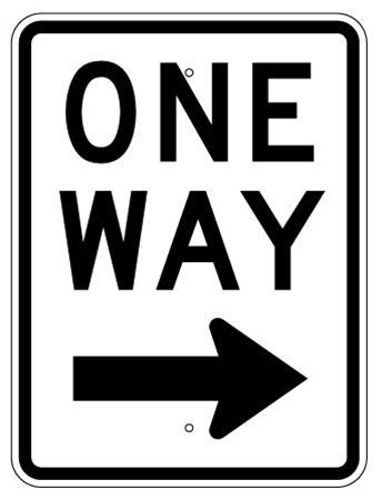 Image result for one way sign