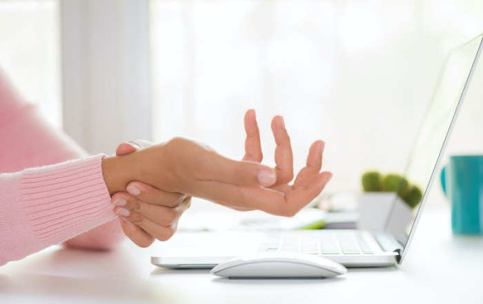 hand stretches at work