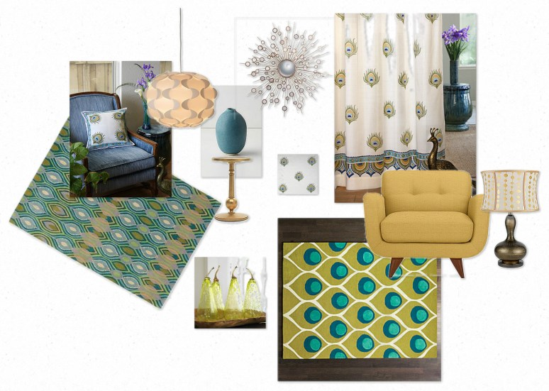 turquoise, curtains, throw pillows, rugs, living room furniture