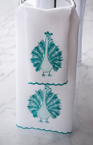 ideas for a peacock themed bath