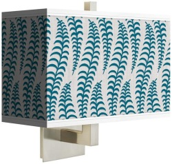 fancy fern peacock rectangular wall sconce