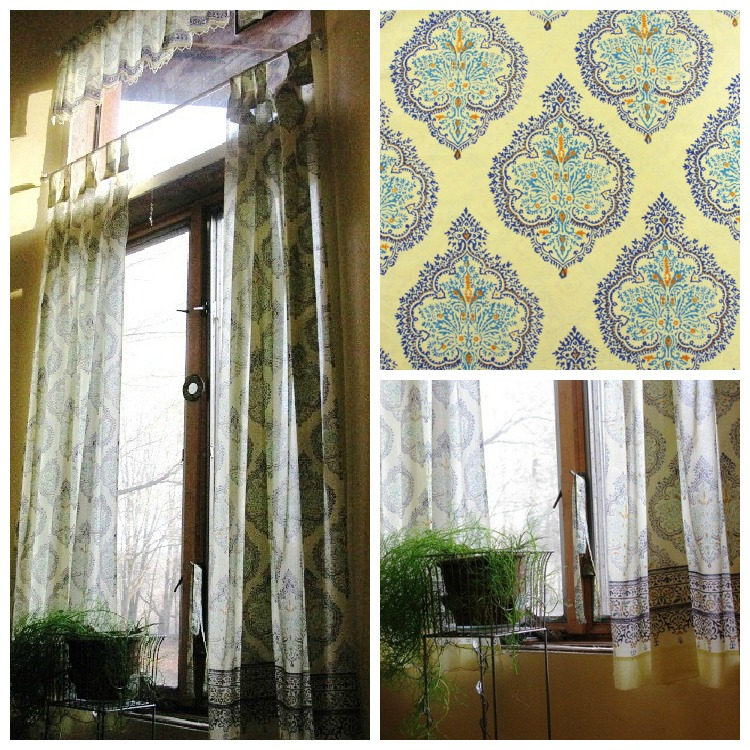Moroccan Yellow And Blue Curtains