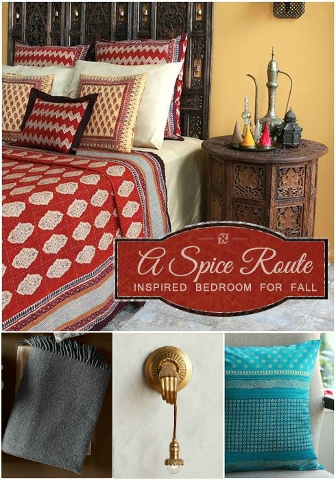 A Spice Route Inspired Bedroom For Fall